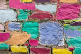 Colorful wall in Cobh, Cork, Ireland - 206483207
