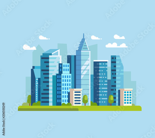Wall mural City landscapes vector