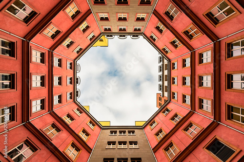 Inner Courtyard of Berlin appartment building - 206504278
