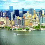 Manhattan skyline aerial view, USA - 206506843