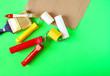 Leinwandbild Motiv Home repair tools. Foam rollers for wall coloring close up.