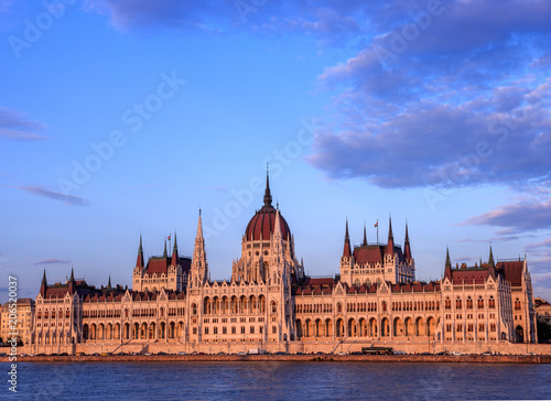 Fotobehang Boedapest Parlament Országház in Budapest