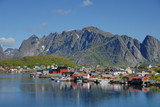 Fisherman's village on the Lofoten Islands in Norway on a sunny day - 206522691