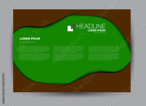 Aluminium Groene Flyer, brochure, billboard template design landscape orientation for business, education, school, presentation, website. Editable vector illustration.