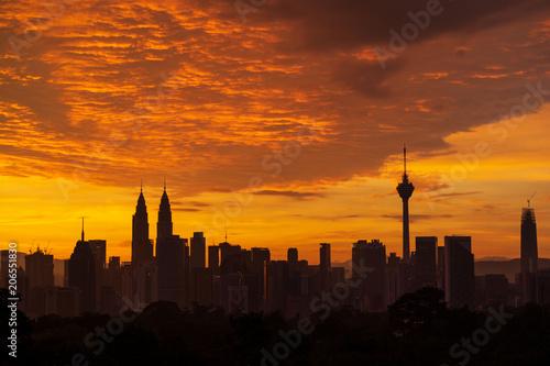 Majestic sunrise over downtown Kuala Lumpur, Malaysia © shaifulzamri.com