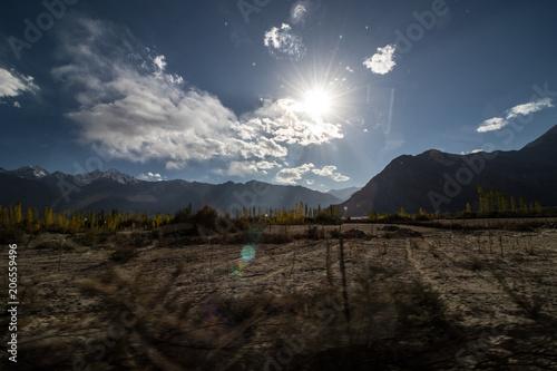 Fotobehang Zwart Landscape of Leh Ladakh