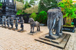 Statues at Khai Dinh Tomb in Hue Vietnam