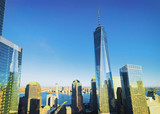 Aerial view with World Financial Center Freedom Tower - 206570491