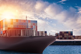 Cargo ship at the port ready to travel with packages. 3d rendering - 206572684
