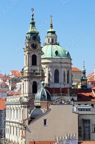 Antyczny kościół święty Nicholas w Praga w republika czech