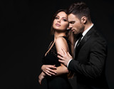 Best sexy elegant couple in the tender passion. - 206580485