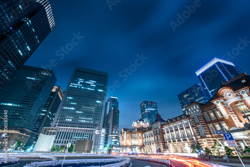 Aluminium Nachtblauw photo