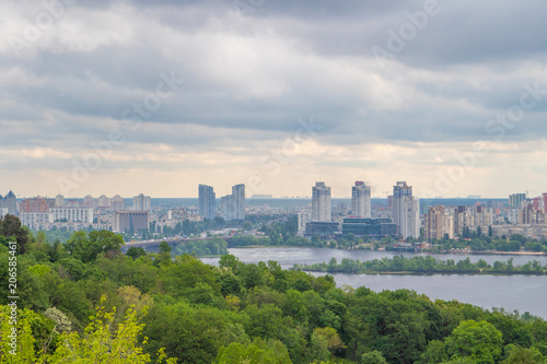 Aluminium Kiev View of the city of Kiev from a height. City landscape.