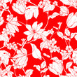 Seamless pattern with flowers magnolia and tulips - 206597244