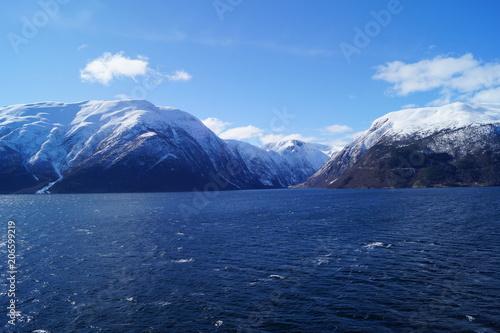 Aluminium Nachtblauw Sognefjord in Norwegen