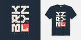 Brooklyn New York textured t-shirt and apparel design, typograph - 206602453