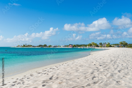 Fototapeten Strand Beautiful beach in Los Roques archipelago, one of the most