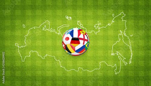 Ball auf dem Fussballplatz © Thaut Images