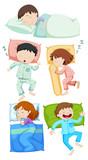A Set of Kids Sleeping - 206634883