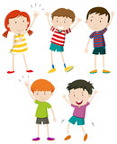 A Set of Kids Waving