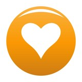 Affectionate heart icon. Simple illustration of affectionate heart vector icon for any design orange - 206656818