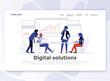 Flat Modern design of Landing page template - Digital Solution