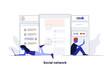Modern Flat design Concept Illustration - Social Network