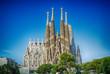Leinwanddruck Bild - Sagrada Familia in Barcelona, Spain