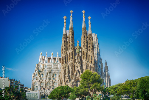 Leinwanddruck Bild Sagrada Familia in Barcelona, Spain