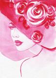 beautiful woman. fashion illustration. watercolor painting - 206700678