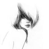 beautiful woman. fashion illustration. watercolor painting - 206701203