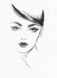 beautiful woman. fashion illustration. watercolor painting - 206701259