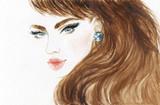 beautiful woman. fashion illustration. watercolor painting - 206701866