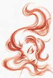 beautiful woman. fashion illustration. watercolor painting - 206702266