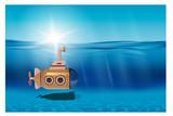 submarino bajo el mar