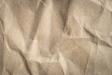 crumpled brown paper texture and background - 206710068