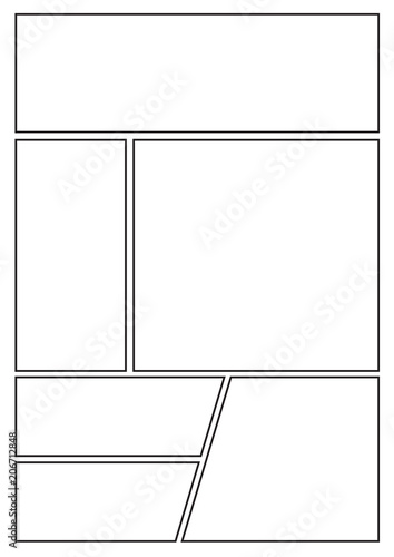 Manga Storyboard Layout Template For Rapidly Create The Comic Book Style A4 Design Of Paper
