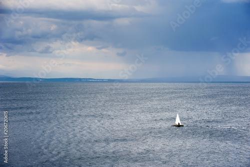 Fotobehang Zeilen Summer Storm at the Sea