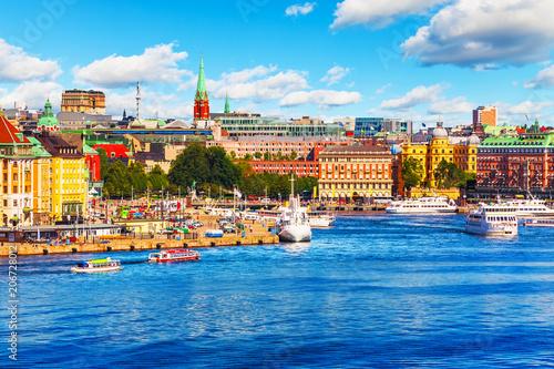 Fotobehang Stockholm Scenic summer panorama of Stockholm, Sweden