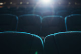 Empty rows of seats in cinema or theater - 206735024