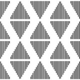Thin line triangular background. Seamless geometric pattern. Striped triangle geometrical background. Vector illustration. - 206751673