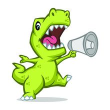Trex Speak Mascot Design  Sticker