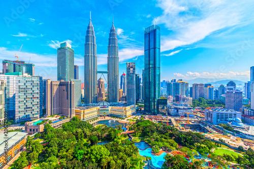 Fotobehang Kuala Lumpur マレーシア クアラルンプールの街並み