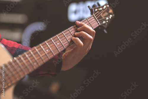 Musician playing the guitar - 206793060