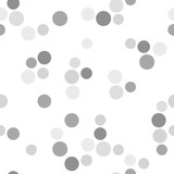 Black and white vector dotted seamless pattern background 2 - 206800834