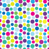 Retro dotted vector seamless pattern background 1 - 206800849