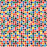 Retro dotted vector seamless pattern background 2 - 206800870