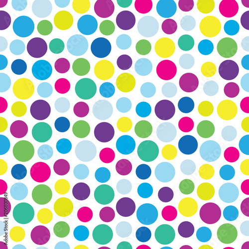 Retro dotted vector seamless pattern background 1