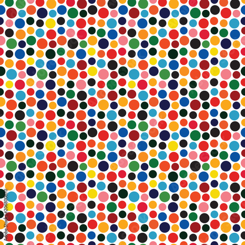 Retro dotted vector seamless pattern background 2
