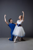 Professional ballet dancer enjoying regular training - 206803035